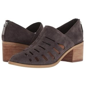 1.State Ilee gray suede cutout Ankle Booties